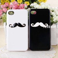Mustache iPhone 4 case, beard iPhone 4 Case, iPhone 4s case, iPhone case, iPhone 4 cover, iphone 5 cover