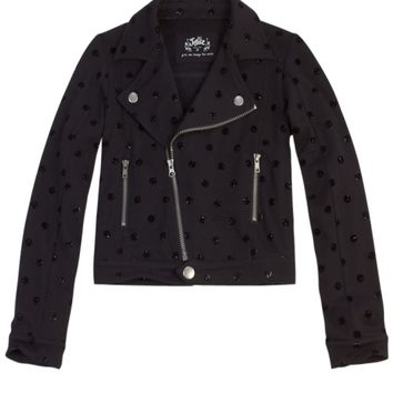 Knit Glitter Dot Jacket | Girls Outerwear Clearance | Shop Justice
