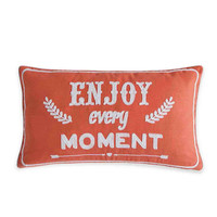 Enjoy Every Moment Toss Pillow in Coral