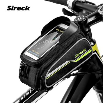 "Sireck 6"" Touchscreen Phone Case Mountain Road Bike Bag MTB Cycling Bicycle Front Frame Tube Bag Saddle Bag Accessories 4 Colors"
