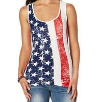 American Flag Brushed Tank