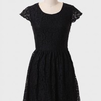 Marcy Button-back Lace Dress