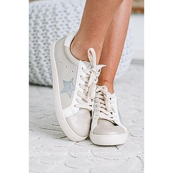 Starbound Beige Lace Up Tennis Shoes