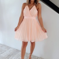 Sweet Charm Dress: Peach