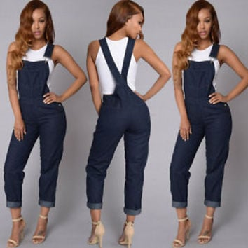 Women Clubwear Playsuit Sleeveless Bodycon Party Jumpsuit Romper Pants Trousers