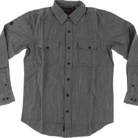 Independent Struggle Longsleeve Button Up Large dark Grey Chambray