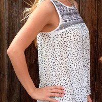 Embroidered Sleeveless Blouse - FINAL SALE