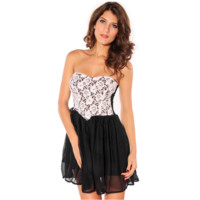 SWEET BLACK LACE DRESS black