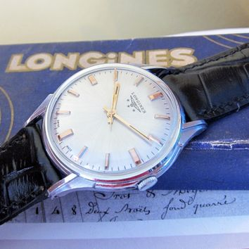 Classic Mens Vintage Longines watch Swiss Made 1950s, 17 Jewels, Calibre 284