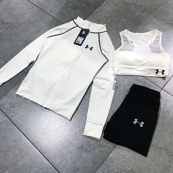 Under Armour Casual sportswear female autumn installs the new fashion hoodie three-piece One-nice™
