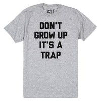 Don't Grow Up-Unisex Athletic Grey T-Shirt