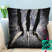 X Men Origins Wolverine Scratch Zippered Pillow Case, Cushion Case, Pillow case