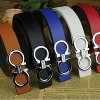 Ferragamo men/women belts Big large buckle genuine leather belt designer men/women belts luxury brand belt