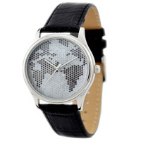 Map Watch (Mosaic) B/W- Men's Watch - Women's Watch