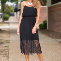 Lace And Flirty Dress, Black