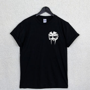 Mf DOOM MASK T Shirt Top Unisex Logo Hip Hop Rap Music Rare East West Coast Biggie Retro Fan