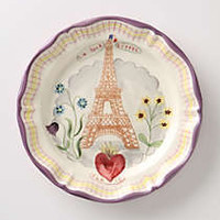 Francophile Dinner Plate, Eiffel Tower