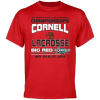 Cornell Big Red 2013 NCAA Men's Lacrosse Championship Final Four T-Shirt - Carnelian - http://www.shareasale.com/m-pr.cfm?merchantID=7124&userID=1042934&productID=555868907 / Cornell Big Red