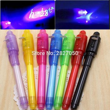 Drawing Toy Kids Child 2 in 1 UV Black Light Combo Creative Invisible Ink Magic Pen Educational Painting Tools Drawing Tool