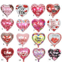 High Quality 10pcs/lot 18'' I LOVE YOU Balloon Valentine day Wedding Decorations party supplies Heart shape love foil balloons