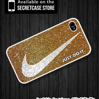 Nike just do it with luxurious glitter - iPhone 4/4s Case , iPhone 5/5s/5c case , Samsung S2/3/4 case , Nike luxurious Glitter iphone case