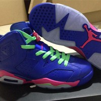 Air Jordan 6 sapphire Basketball Shoes 36-39