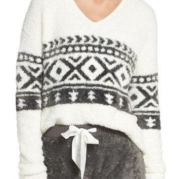 Make + Model Fuzzy Lounge Sweater | Nordstrom