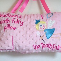 Girls Tooth Fairy Pillow Personalized Large Pillow