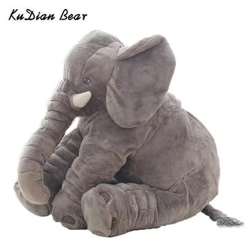 KUDIAN BEAR Fashion 60cm Baby Stuffed Animal Elephant Doll Plush Kids Toy For Children Room Bed for 0-12 Months BYC142 PT49