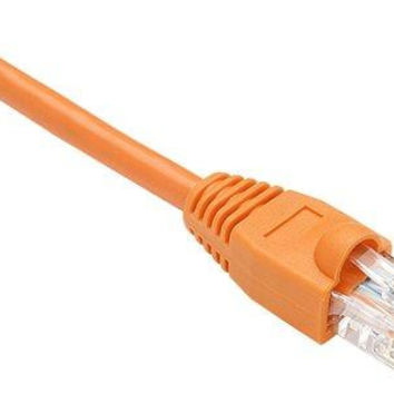 Unirise Usa, Llc Cat6 Shielded Gigabit Ethernet Patch Cable, Utp, Orange, Snagless, 1ft