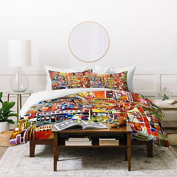 Robin Faye Gates It Came From Detroit Duvet Cover