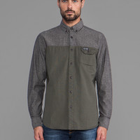 Penfield Westlock Color Block Shirt in Black