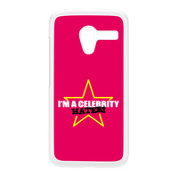 Celebrity Hater White Hard Plastic Case for Moto X by Chargrilled