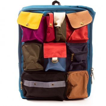 Blue Multi-Pocket Backpack by Carrot - ShopKitson.com