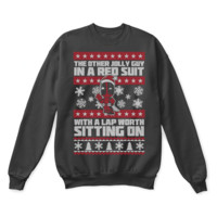 QIYIF Deadpool The Other Jolly Guy In A Red Suit Ugly Christmas Sweater