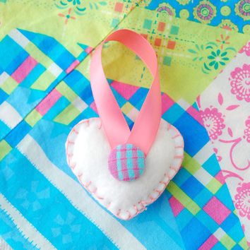 Frosted Sugar Cookie Felt Plush Heart by BoutiqueVintage72 on Etsy