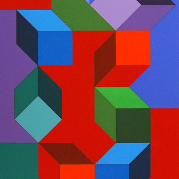 "VASARELY ""TAIRE"" SERIGRAPH, 1978"