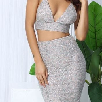 Volatina Silver Two-Piece Dress