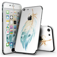 WaterColor DreamFeathers v10 - 4-Piece Skin Kit for the iPhone 7 or 7 Plus
