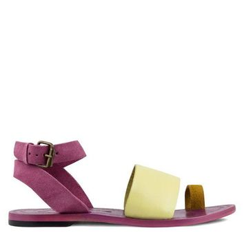 DCCKH2N Free People Torrence Flat Sandal Women's - Pink Combo