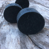 2 pack  - Activated charcoal soap,   detox soap, organic jojoba oil, organic custom crafted, vegan, luxury soap, spa soap, unscented so