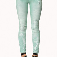 Distressed Colored Skinny Jeans
