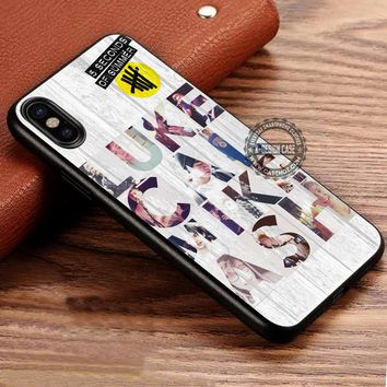 5 Seconds of Summer Vintage Band iPhone X 8 7 Plus 6s Cases Samsung Galaxy S8 Plus S7 edge NOTE 8 Covers #iphoneX #SamsungS8