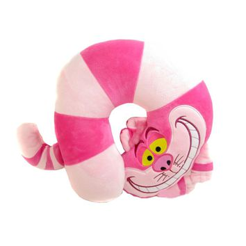 Alice In Wonderland Cheshire Cat Stuff Plush U Shaped Neck Pillow Toy Doll Birthday Gift Collection 26cm