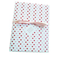 Heart Pattern Wrapping Paper on White Paper for Small Gift