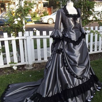 New Style!  Gothic Victorian Steampunk Custom Bustle Gown Your color, fabric, size