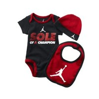 "The Jordan ""Sole Of A Champion"" Three-Piece Newborn Boys' Set."