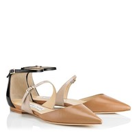 Cuoio/Frappe/Black Kid Leather and Patent Pumps | Cruise 2014 | JIMMY CHOO Pumps