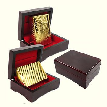 Buy Gold Playing Cards In Wooden Box Online 24 Carat Plated Cards Near Me