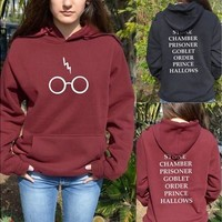 Harry Potter Hoddie Hoody Glasses Hogwarts Alumni BOOK Titles Sweater Sweatshirt [8834072844]